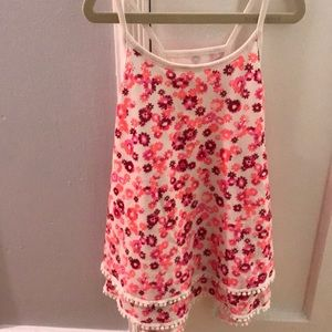 Justice floral swing tank size 12